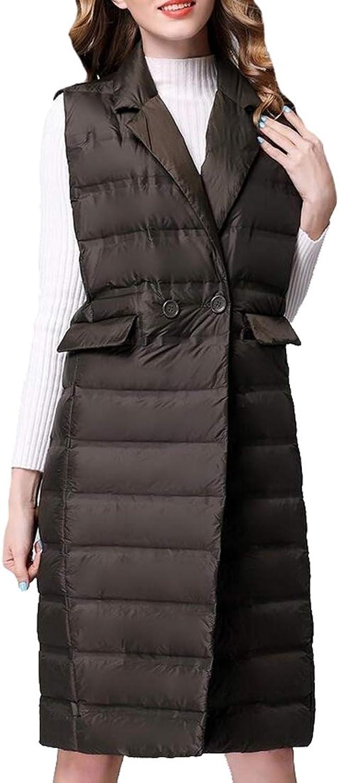 LEISHOP Womens Down Vest Lightweight Down Jacket Stylish Windbreaker Vest Coat