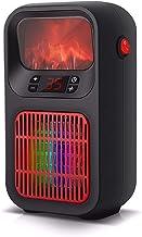 Gymqian Calentador de Ventilador, Calefactor Eléctrico Portátil Ajustable Termostato, 900W de Control Remoto con Calentadores de Espacio Ajustable Termostato Y Temporizador, Pequeño