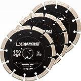 LXDIAMOND 3 discos de corte de diamante de 150 mm para hormigón, mampostería, universal, apto para Bepo FFS 150 151, fresadora de ventana, fresadora de montaje, cortadora de juntas de ventanas, 150 mm