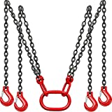HONYTA Chain Sling 5/16 Inch X 5 FT with Grab Hooks, Butterfly Buckles, Adjustable Lift Chain Sling for Lifting 5 Ton Capacity