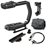 Sevenoak MicRig Universal Video Grip Handle with Integrated Stereo Microphone, Windscreen, and Shoe Extender Bracket for DSLR Cameras, iPhone, Android Smartphones and GoPro HERO3, HERO3+ and HERO4
