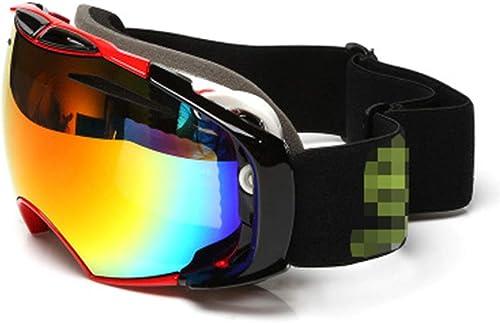 HuanXin-F672 OTG Masques de Ski pour Neige de Jets de Ski avec écran Anti-buée et Anti-Reflets Lunettes de Prougeection anti-UV400 compatibles avec Les Casques