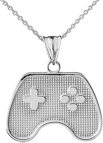 Feine Sterling Silber Videospiel Controller Charm Anhänger Halskette