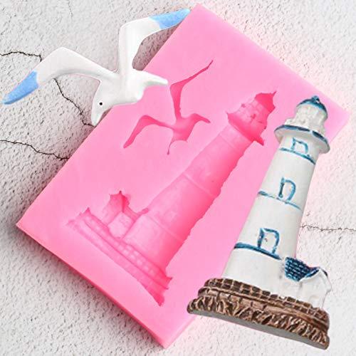 JACKWS Leuchtturm Vogel Silikonform Möwe DIY Kuchen Dekorationswerkzeuge Cupcake Cookie Backformen Candy Clay ChocolateMoulds
