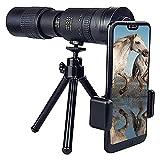 Prismáticos retráctiles con zoom de alta lista para teléfono móvil, clip de resorte para tomar fotos, utilizado para la observación de aves silvestres, caza, camping, viajes, vida silvestre
