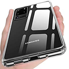 【Compatible with Samsung Galaxy S20 Ultra ONLY】- We promise: Really Tempered-Glass Back; Professional design - countless times hammer hitting tempered glass back test,Quality assurance! Perfectly fits and slim thin lightweight phone case design with ...