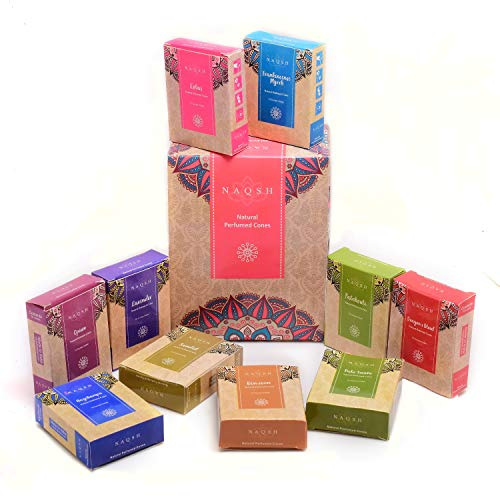 Premium Hand Rolled Incense Cones by Zahra (12, 100% Natural)