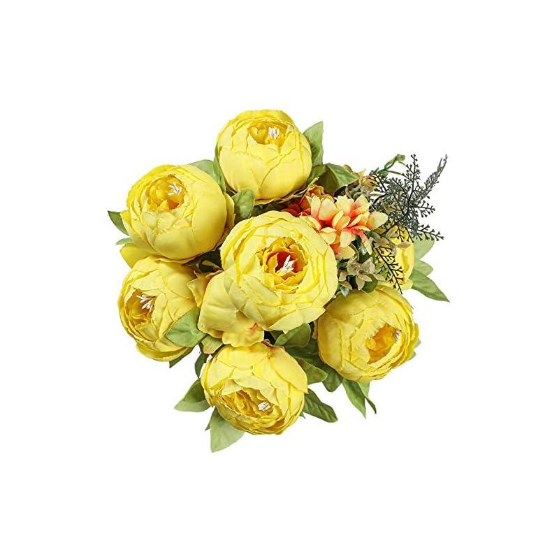 silk flower arrangements floralsecret artificial silk peony flowers bouquet vintage fake flower home wedding decor(spring yellow)