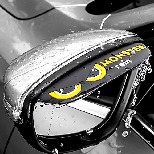 Fulintech 2 Stks Auto Achteraanzicht Wing Spiegel Zon Regen Visor Shield Regenbord Wenkbrauw Guard