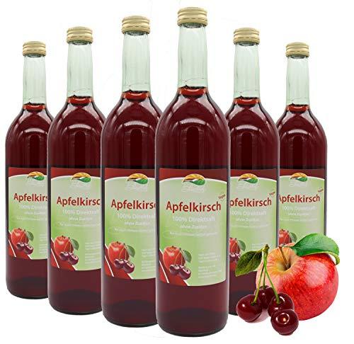 Bleichhof Apfel-Kirsch Direktsaft - 100% Direktsaft, naturrein und vegan, OHNE Zuckerzusatz, 6er Pack (6x 0,72l)