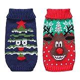 Handfly Jerseys para Perros Suéteres navideños para Perros Reno Saltador para Perros Mascotas Prendas de Punto de Invierno Ropa de Navidad para Perros para Perros pequeños y medianos