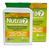 Nutra7 - Supplement Superfoods Turmeric, Ginger, Garlic, Cinnamon, Cayenne, Spirulina and Black Pepper