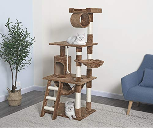 Go Pet Club Brown 62' Cat Condo F68