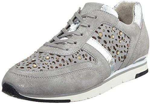 Gabor Shoes Fashion, Zapatillas Mujer, Gris (Grau/stoneStrass), 38 EU