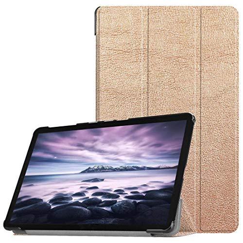 zhangxia Galaxy Tab A 10.5 Case Custer Texture Horizontal Flip Funda de Cuero PU para Galaxy Tab A 10.5 / T595 y T590, con Soporte de Tres Pliegues y función Sleep/Wake-up (Color : Rose Gold)