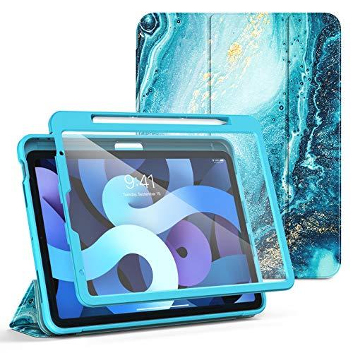 TiMOVO Custodia per New iPad 10.9 Pollici, iPad Air 4a Generazione Case 2020, Smart Cover con Protezione Schermo Supporto e Portapenna per iPencil Compatibile con iPad Air 4th Generation, Doratura