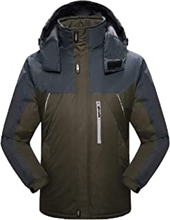Howme-Men Fleece Lined Water-Resistant Taped Seams Parka Jackets