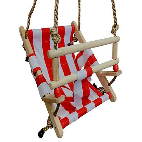 Wickey babyschommel kapitein babystoel schommelstoel rood/wit