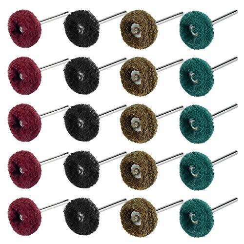 Inntek 40 Stk 25 mm Schleifmittel Polierscheiben, Polierzubehör für Dremel Rotations Werkzeuge Körnung 80/150/240/300 Für Dremel Rotary Werkzeuge