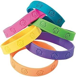 Fun Express Party Favors 24 -Rubber Neon Monkey Bracelets