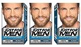 Just For Men Brush in Color Gel Formula per barba e baffi, marrone chiaro, confezione da 3 pezzi (1 x 28 g)