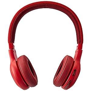 JBL E45BT On-Ear Wireless Headphones (Red) (Renewed)