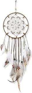 Dsaren Atrapasueños, Hecho a Mano Naturales Dreamcatcher Blanco Colgante Decoraciones Colgantes, Adorno Regalo del Arte (Flor a Cielo Abierto)
