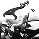 GTinthebox Smartphone Cell Phone Cup Mount Holder with Cradle Rotatable Clip (Black & Gray Union Jack Flag Style, 3.5-5.5 Inch Phone) for Mini Cooper F54 F55 F56 F57, 1 Pack
