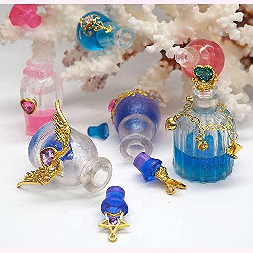 YuKeShop Paquete de 5 recipientes pequeños para botellas de resina epoxi, resina UV, molde de fundición para manualidades