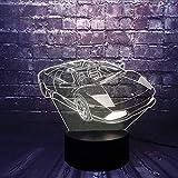 Serie di auto per bambini Lampada da tavolo per LED da notte per auto da corsa a LED 3D Lampada da tavolo per bambini regalo di compleanno decorazione da comodino