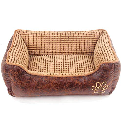 Pet Cat Bed, Oversized Suede Non-Slip Cat Sofa, Detachable Washable Dog Nest, Rectangle Breathable Soft Mattress, PP Cotton Filling Thickened Pets Cushion