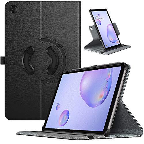 TiMOVO Schutzhülle Kompatibel mit Samsung Galaxy Tab A 8.4 Inch 2020 Release Model SM-T307, PU Lederhülle 90° Drehbar Multi-Winkel Hülle Ständer Kompatibel mit Galaxy Tab A 8.4 2020 Tablet - Schwarz