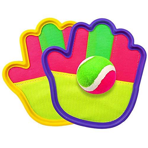 CCCYT Klettballspiel Fangballspiel Ballspiel Klett Wurfspiel Set mit Paddles und Ball für Kinder Erwachsene