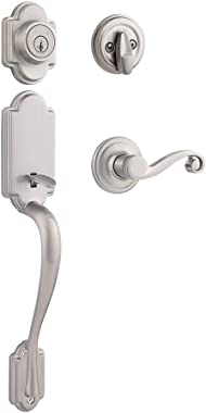 Kwikset Arlington Single Cylinder Handleset w/Lido Lever featuring SmartKey in Satin Nickel
