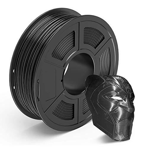 AnKun Filamento PETG de 1,75 mm, filamento negro para impresora 3D, carrete de 1 kg, material de impresión 3D, precisión dimensional +/- 0,02 mm