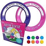 activ life anelli volanti per bambini [rosa/viola] regalo divertente per natale e compleanno – giocattolo fantastico per ragazzi e ragazze e per divertirsi in piscina o in cortile – idea per nipoti