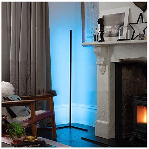 'N/A' Lámpara De Pie LED Decoración De Esquina 20W Living Modern Vertical Luz De Lectura Control Regulable para Dormitorio, Oficina Lámpara De Luz Diurna De Ahorro De Energía 1.4M(Color:Negro)