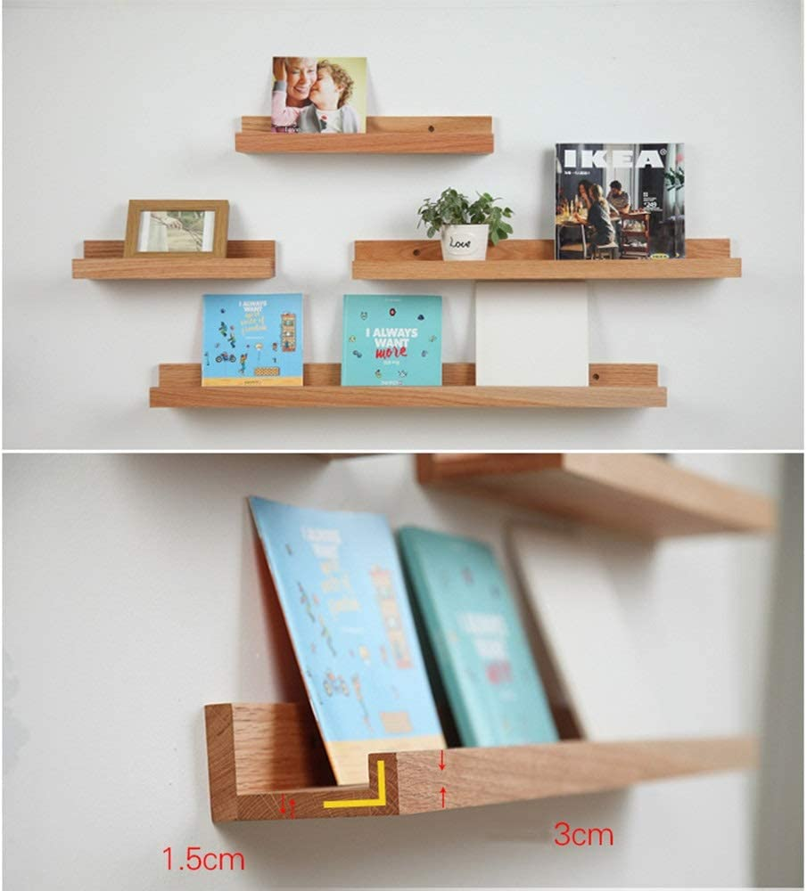 WMMING Wooden Floating Limited Indefinitely time sale Shelves Wall Shelf Storage Trays Mounted