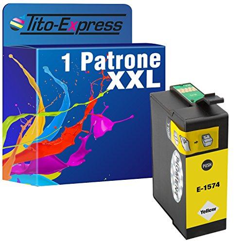 Tito-Express PlatinumSerie 1 Patrone XXL TE1574 Yellow kompatibel mit Epson Stylus Photo R3000