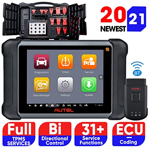 Autel MaxiSys MS906TS Bi-Directional Control Diagnostic Scan Tool with Complete TPMS Services, 2021 Newest, Advanced Ver. of MP808TS, All Systems Diagnostics & 31 Services, ECU Coding, ABS Bleeding
