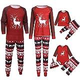 Woohooens Pijamas navideños Familiares Mujer Hombre Bebé Nacido Niña Recien Mameluco Traje de Navidad Elfo Ropa Romper Homewear