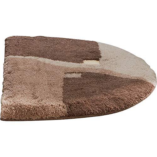 Erwin Müller Duschvorlage, Duschmatte, Dusschvorleger rutschhemmend braun Größe 50x80 cm - kuscheliger Hochflor, für Fußbodenheizung geeignet