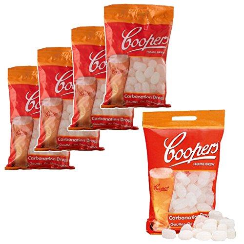 5x Coopers Carbonation Drops 80 250g Sugar Tablets for priming beer & cider