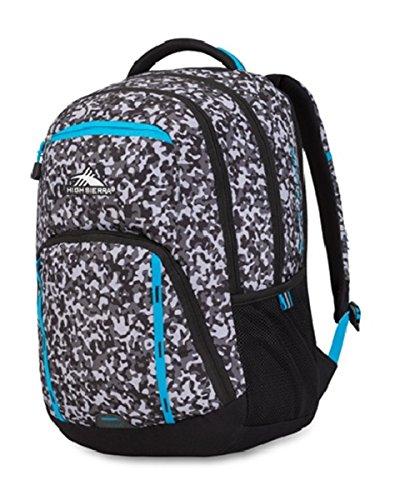 High Sierra RipRap Everyday Backpack (Black and White Mix)