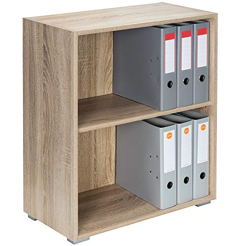 Deuba Standregal Bücherregal Wandregal Regal Holz Vela 2 Fächer Eiche - weitere Modell- &...