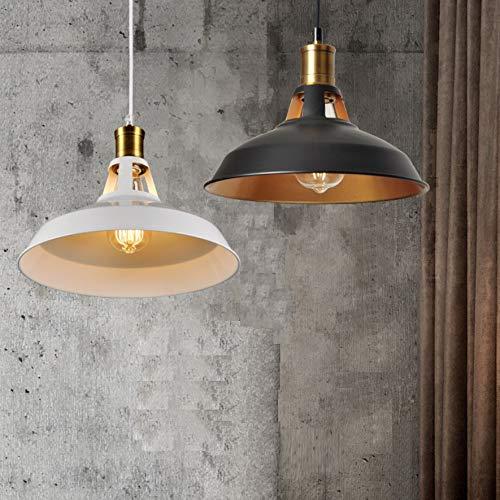 Lampara Colgante Factory incluye bombilla led filamento E27 ST64 6W Lampara colgante de techo para decorar una vivienda o un comercio (NEGRO)
