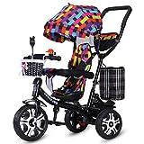SOORCKBAKT Triciclo Evolutivo Bicicleta de Triciclo para niños Carretilla para bebé de 1-3-6 años Bicicleta para niña niño con sombrillas Triciclos Bebes (Color : C)