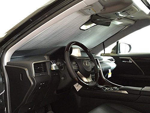 HeatShield, The Original Windshield Sun Shade, Custom-Fit for Lexus RX350 SUV w/Sensor 2016, 2017, 2018, 2019, 2020, Silver Series