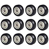 【12Pcs/Pack】SIMAX3D 3D Printer POM Pulley Wheels 625zz, Plastic Linear Bearing Pulley Passive Round Wheel Roller Compatible for Creality Ender 3, CR-10, Anet A8, Anycubic Mega S 3D Printer