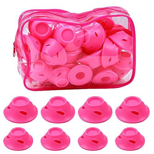 40 pcs aucun dommage Heatless rose cheveux bigoudi rouleaux curling cheveux style outils avec sac clair pour les cheveux longs et courts